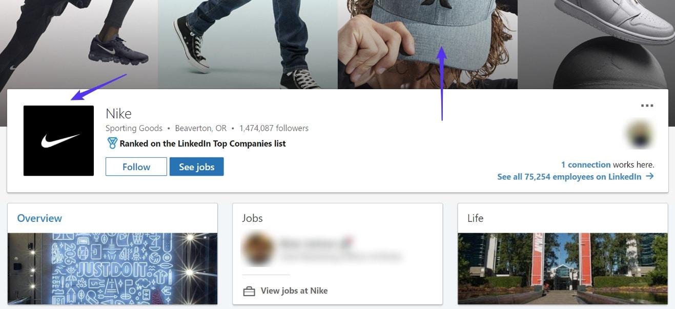 LinkedIn logotypexempel