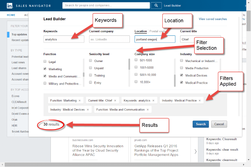 LinkedIn Sales Navigator leadbyggare