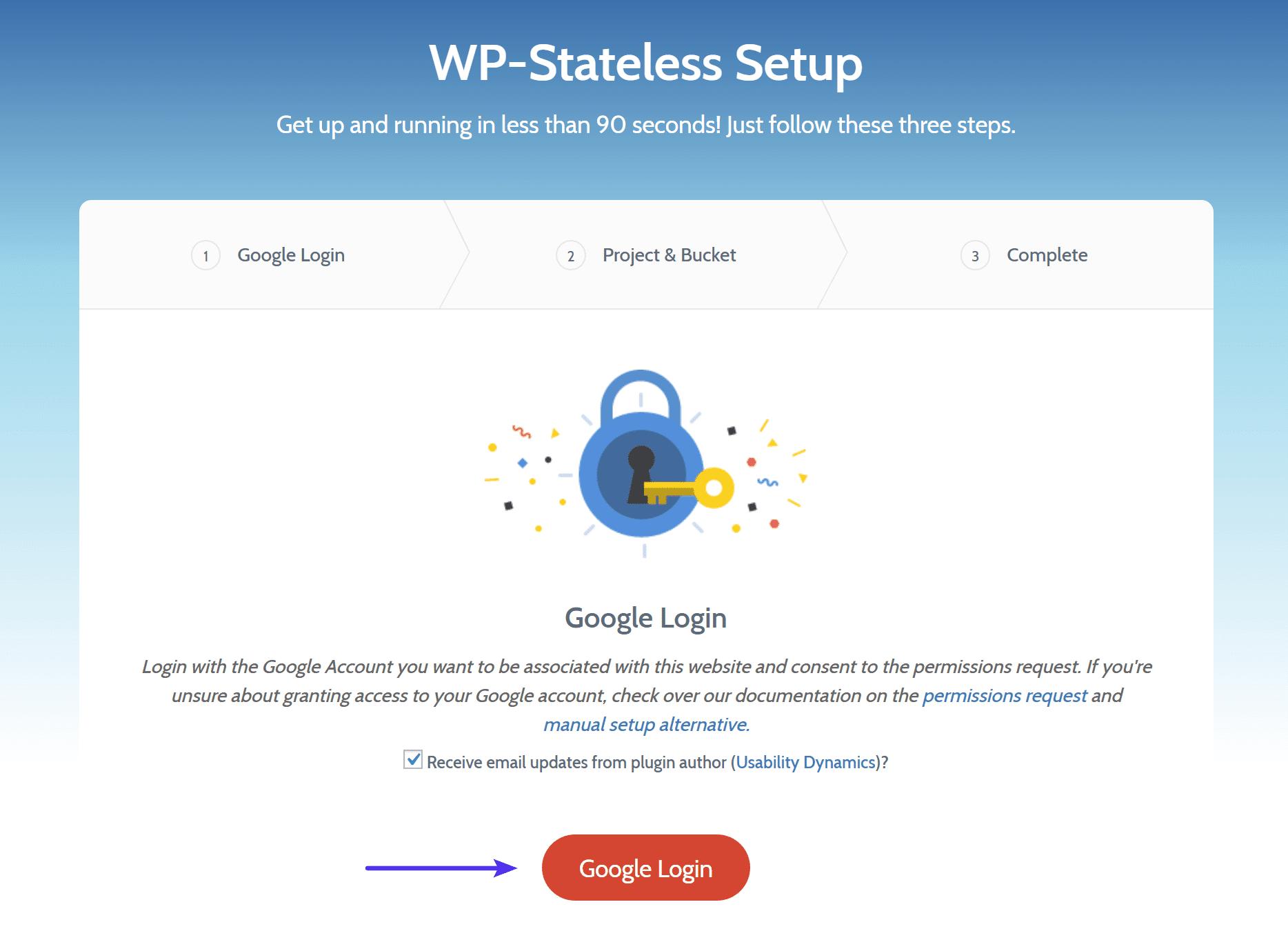 WP-Stateless Google inloggning