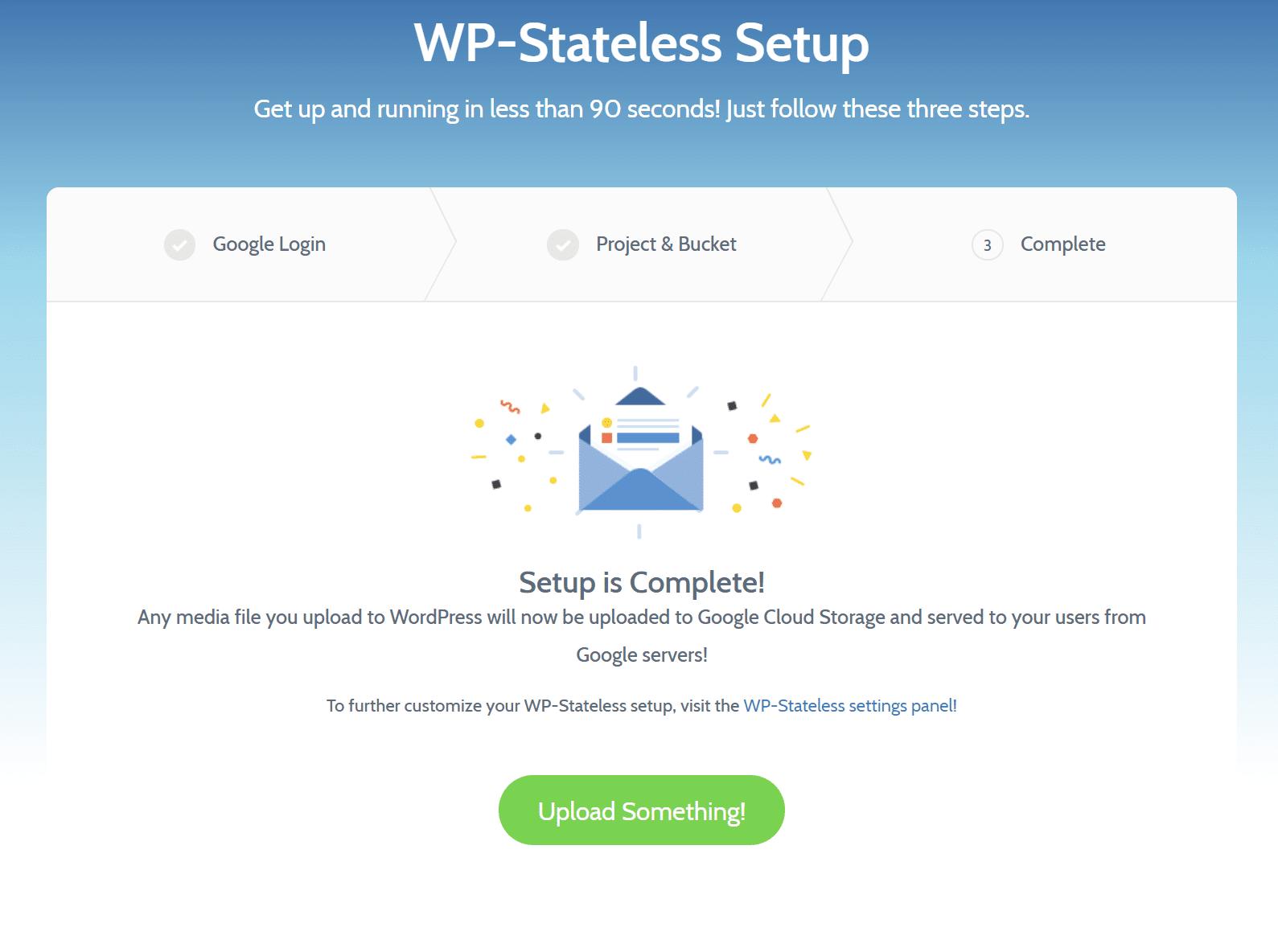 WP-Stateless setup