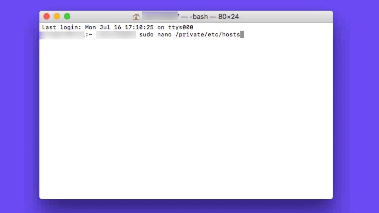 Hosts-fil Mac