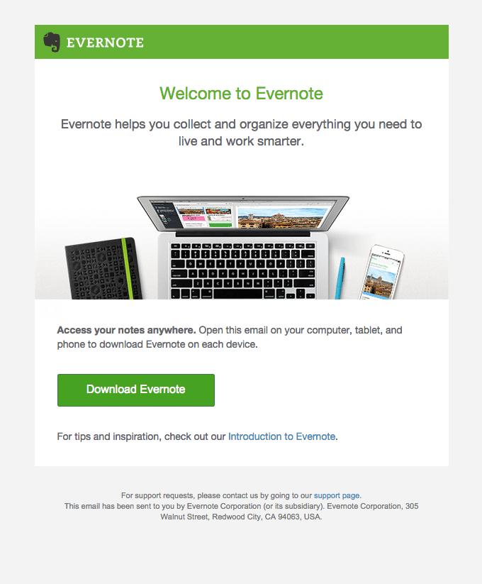 Kort e-post, exempel
