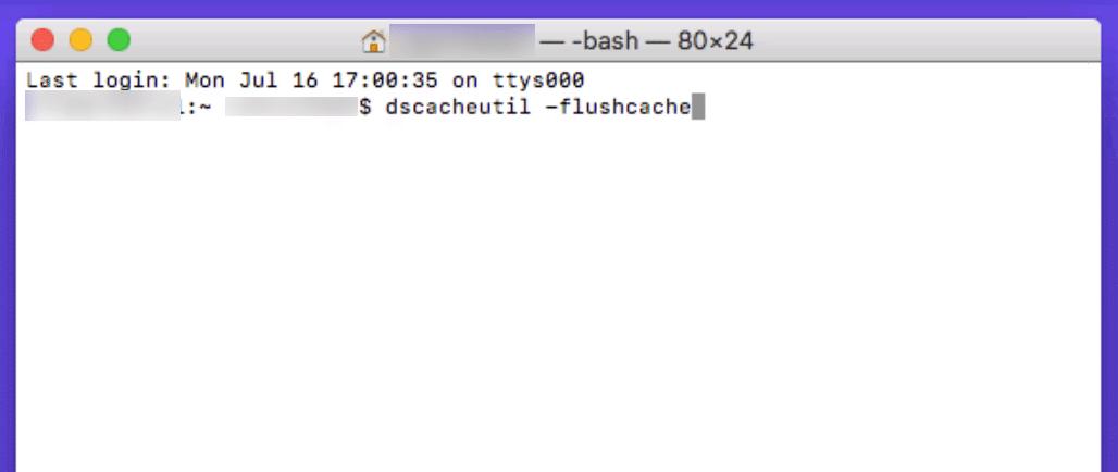 Rensa DNS cache på Mac