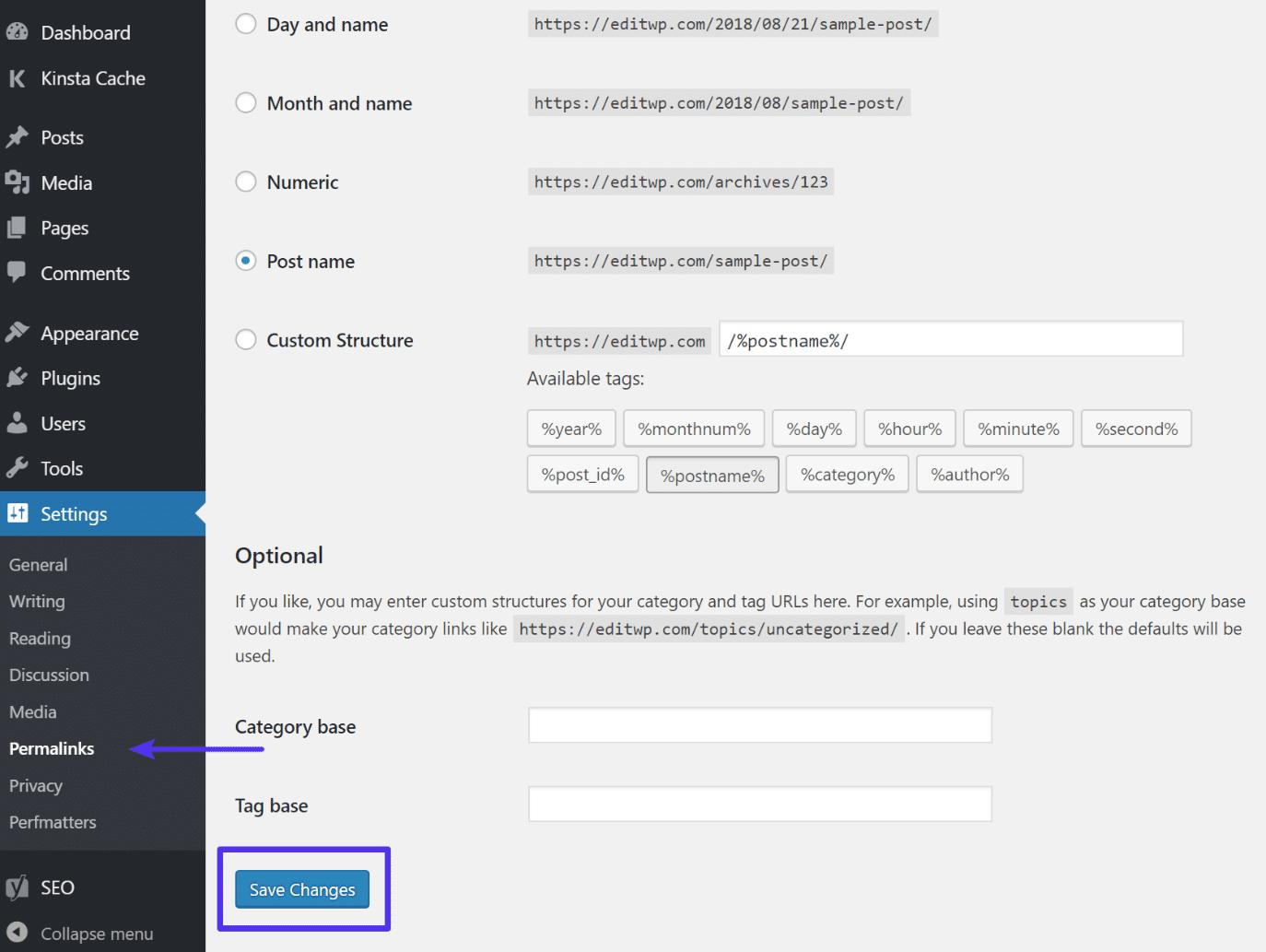 Regenerera permalänkar i WordPress