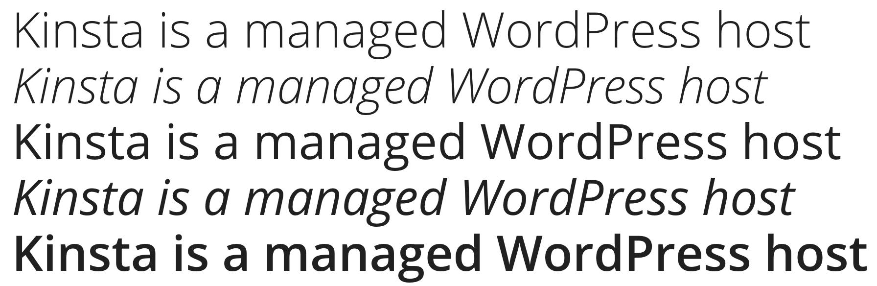 Open Sans Google font