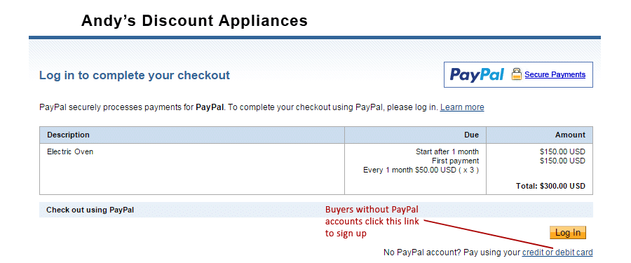 PayPal betalningsplan