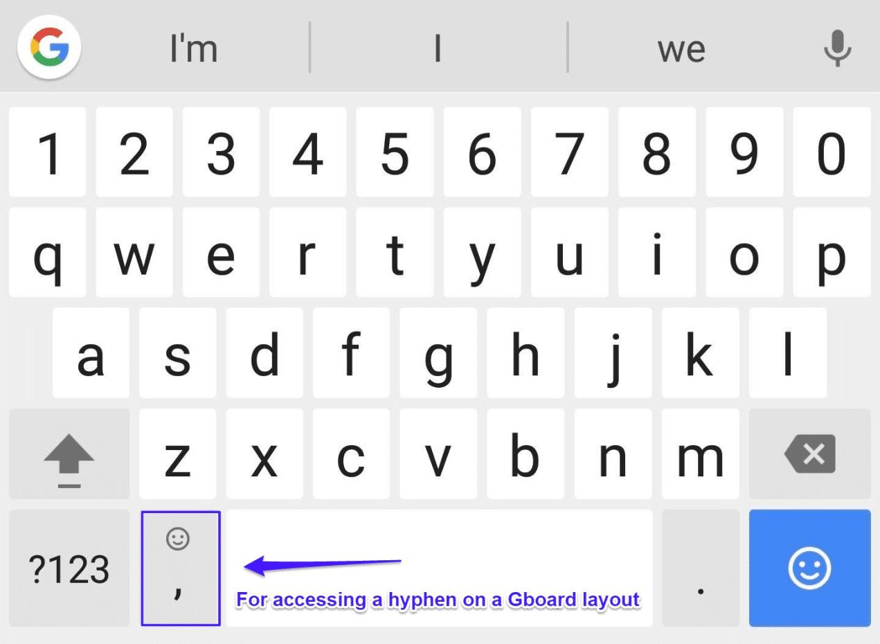 Bindestreck i mobil-domännamn