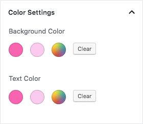 Block-färgpaletter