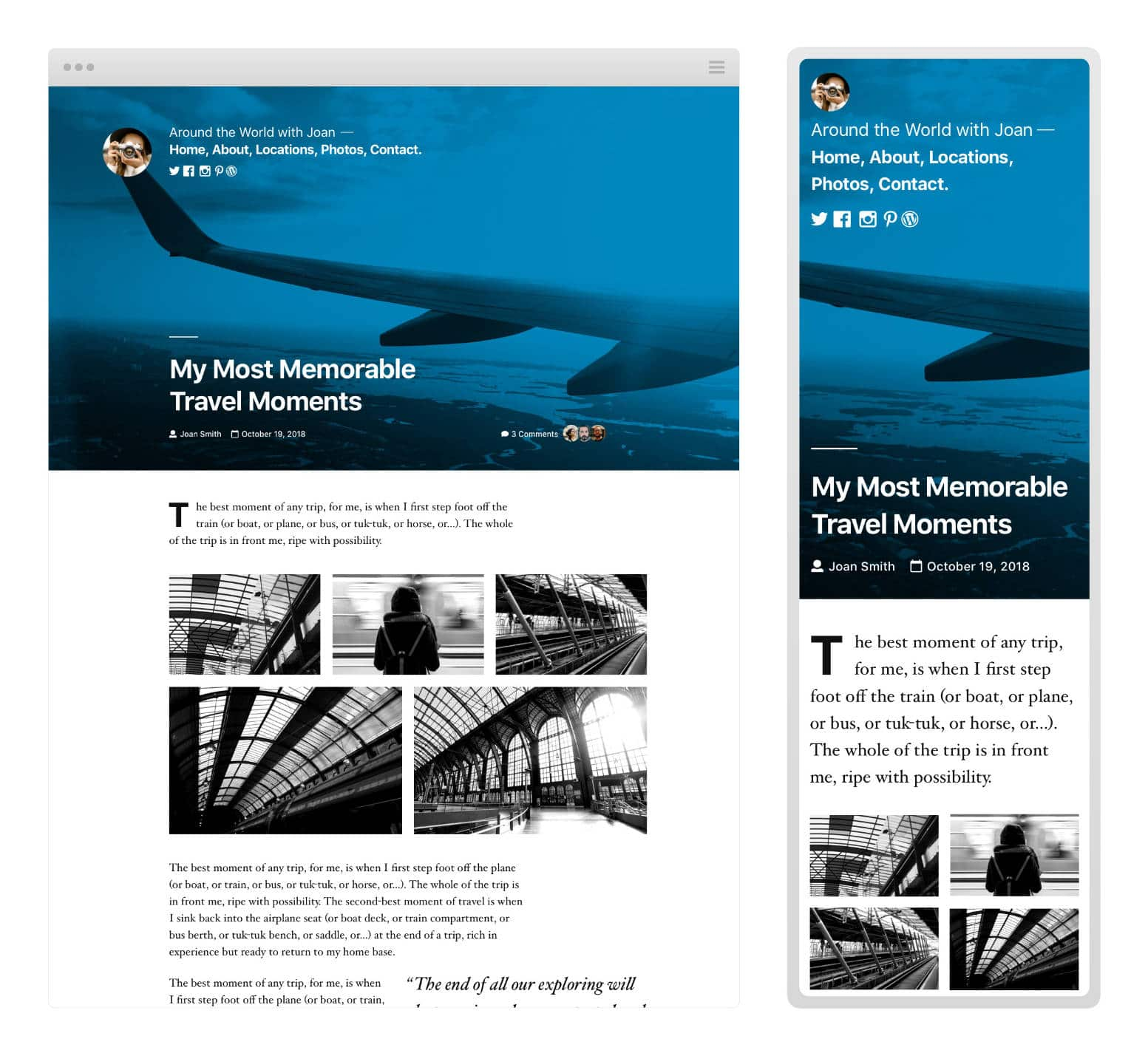 Twenty Nineteen WordPress-tema