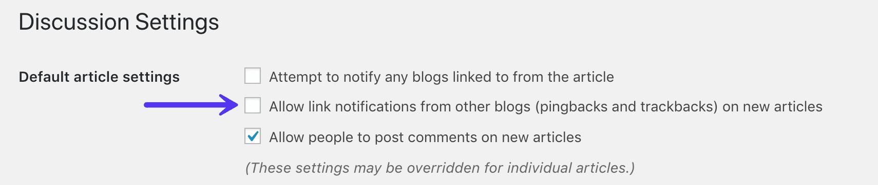 Stäng av pingback i WordPress