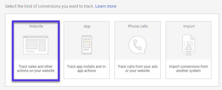 Webbplatsåtgärder för Google Ads