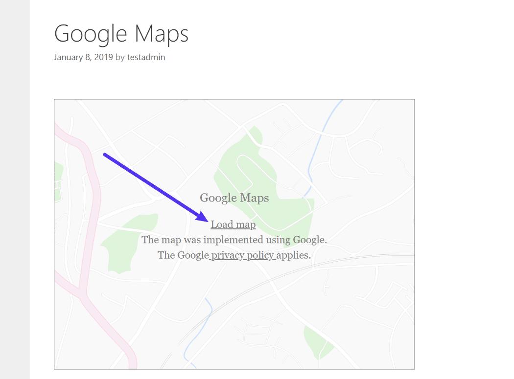 Google Maps platshållarbild