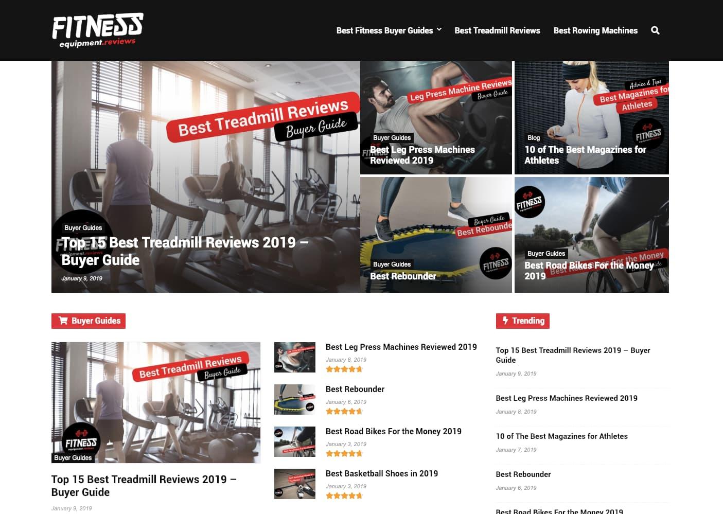 Amazon Associates-webbplats exempel