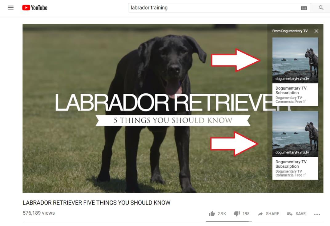YouTube-kort