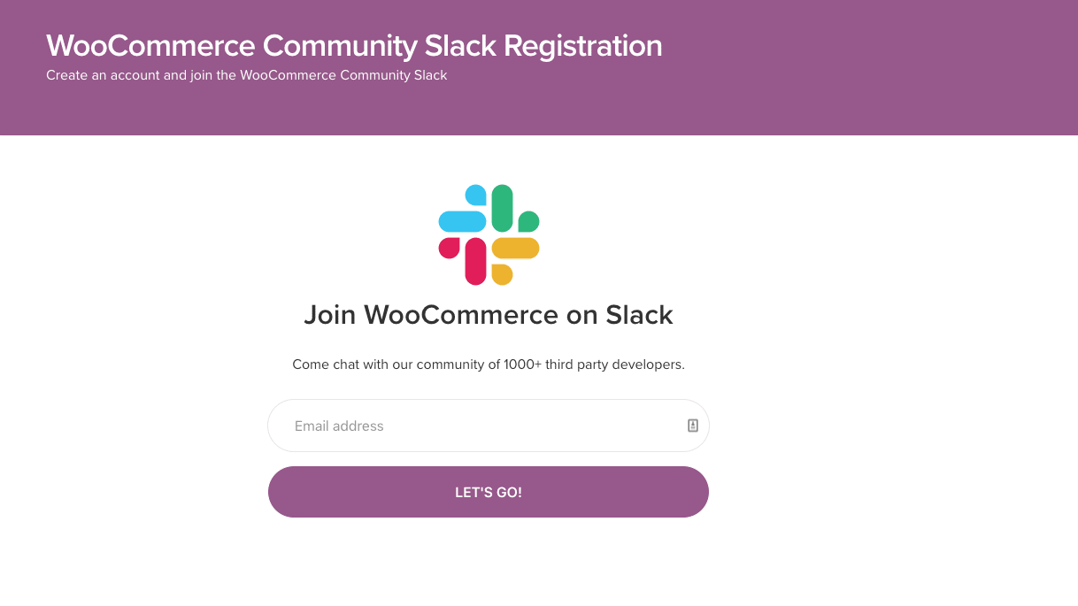 WooCommerce-gemenskapen på Slack