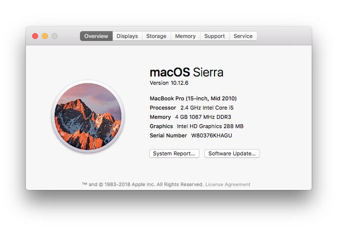 Om denna Mac