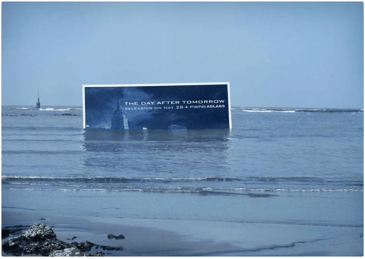 """Day after tomorrow""-kampanj av Fame Adlabs"