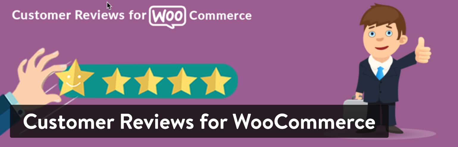 Bästa WordPress Recensionsplugins: Customer Reviews for WooCommerce