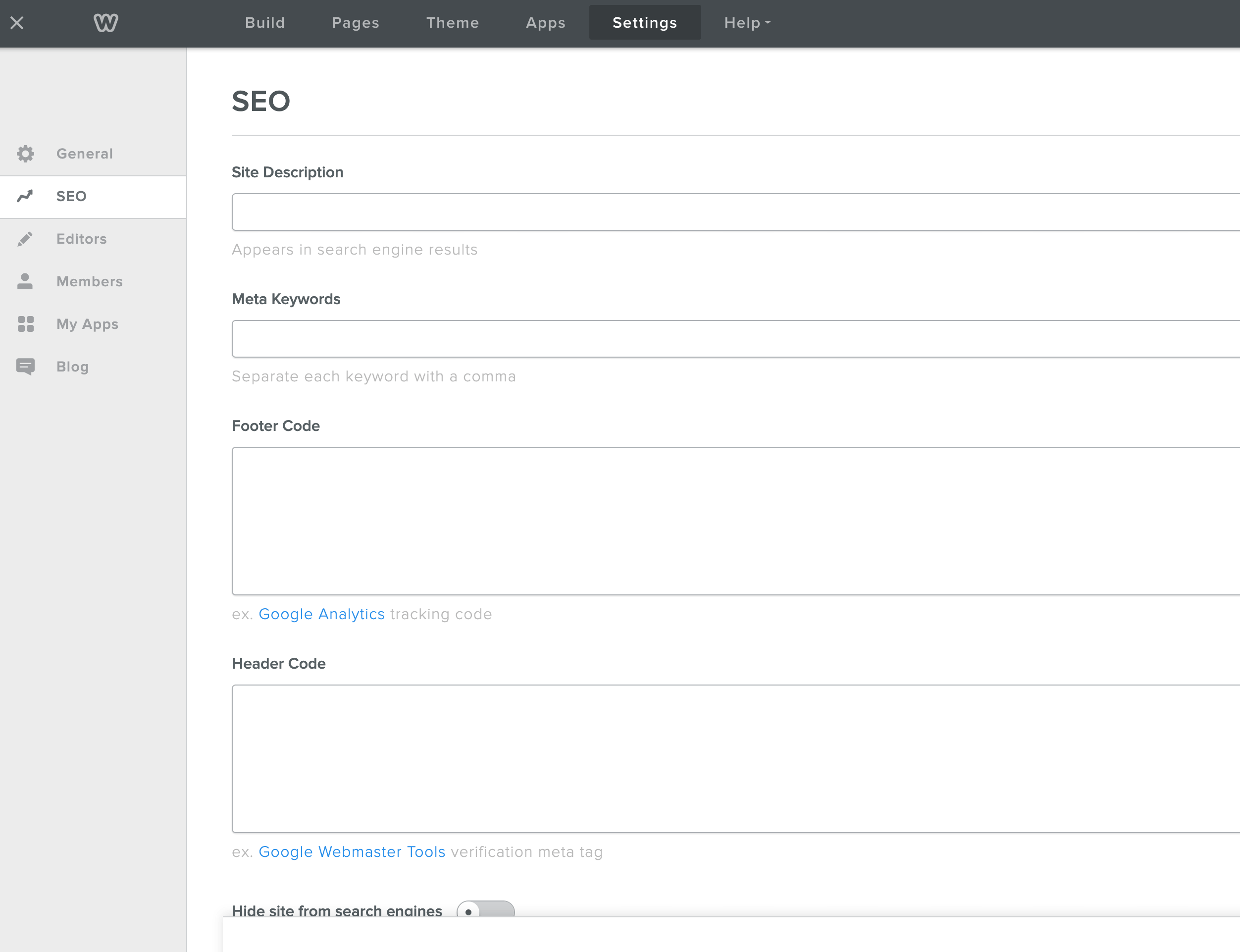 Weebly-webbplats SEO-alternativ
