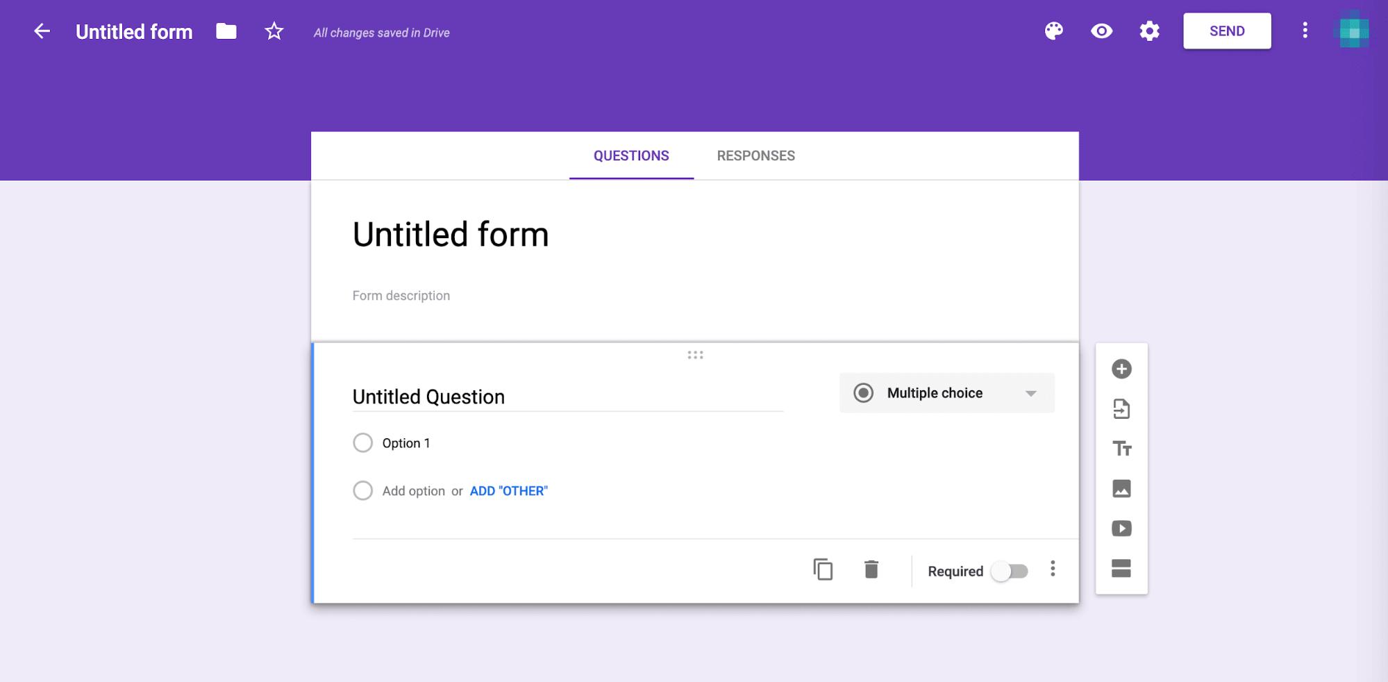 Konfigurera ditt Google-formulär
