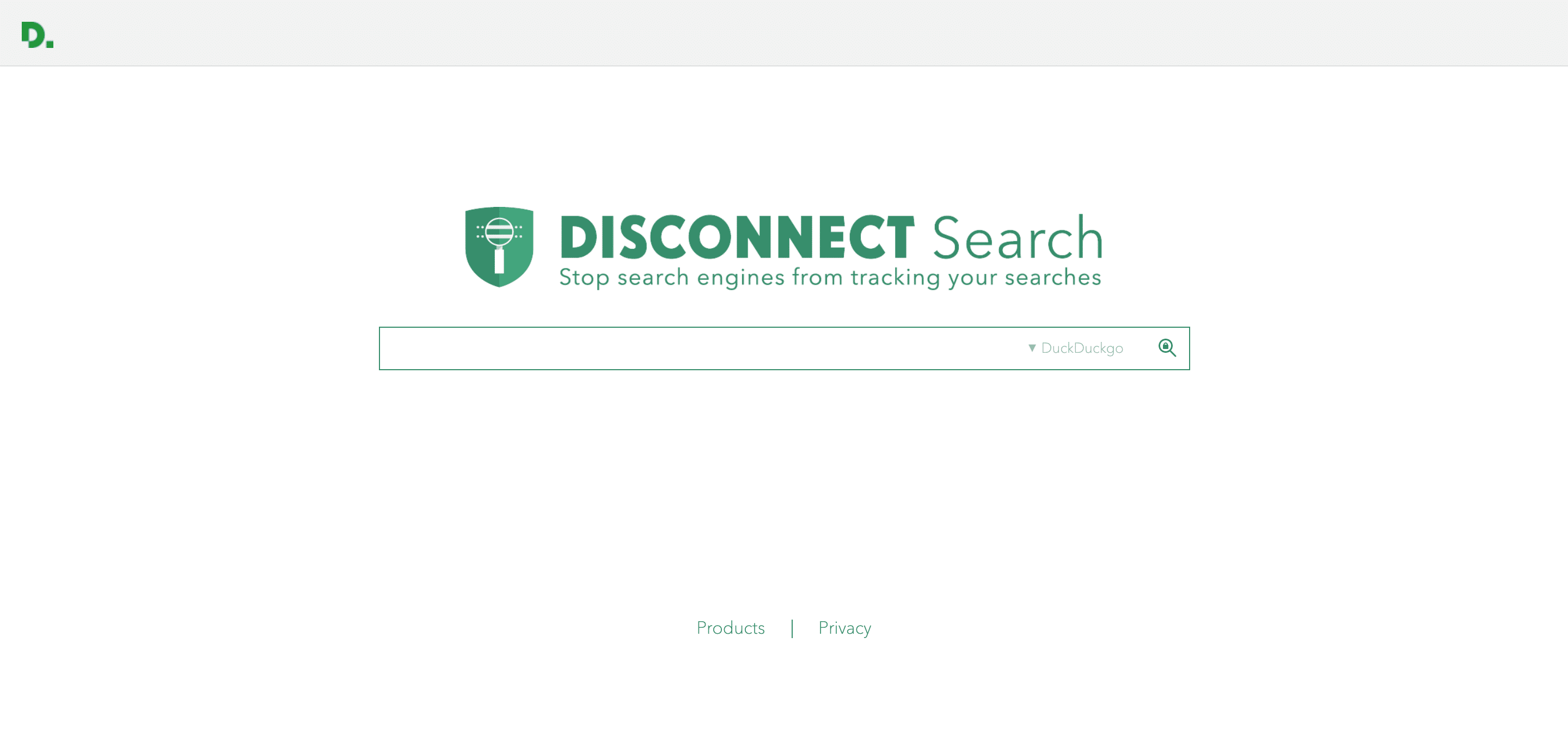 Disconnect search sökmotor