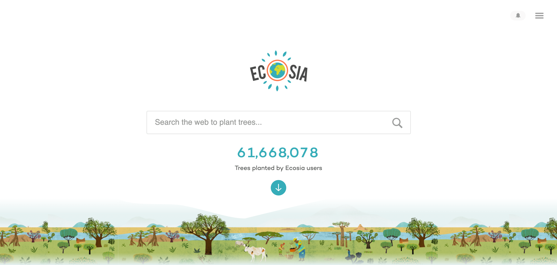 Ecosia sökmotor