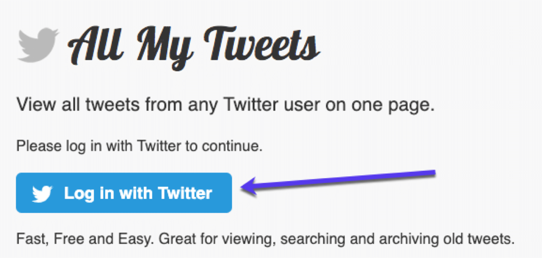 Visa alla tweet från en användare på en sida via Alla mina Tweets