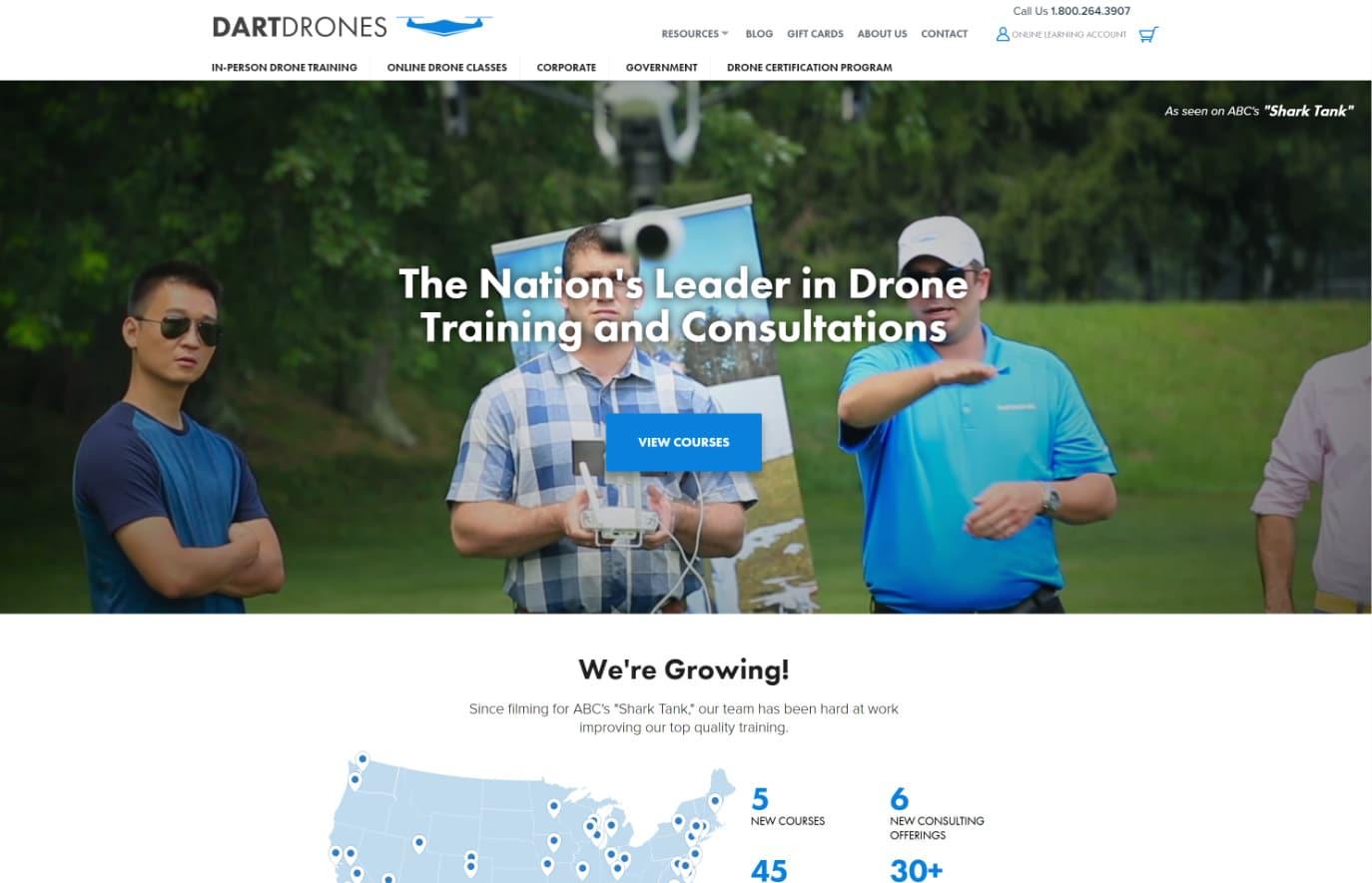 DARTdrones webbplats