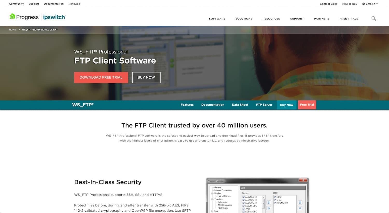 Bästa FTP-klienterna: WS_FTP® Professional