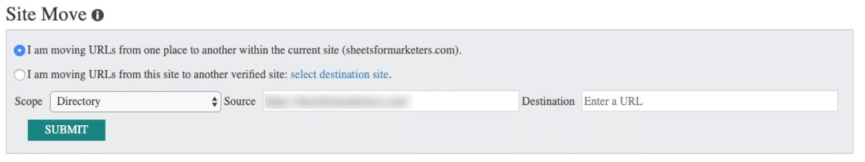 Tala om för Bing om du flyttar din webbplats till en ny domän