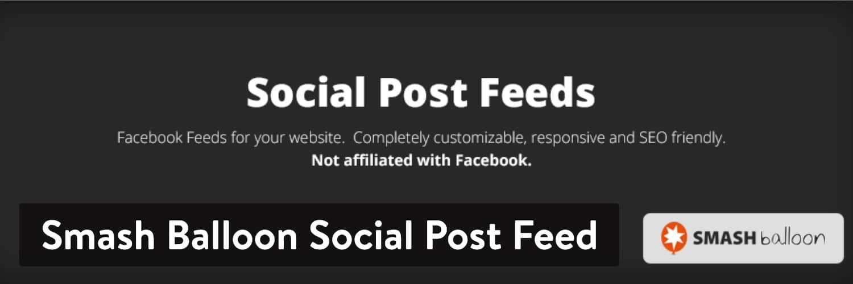 Smash Balloon Social Post Feed WordPress-plugin