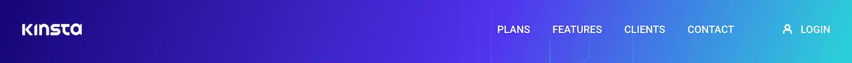 Primära navigeringsmenyn på Kinstas webbplats