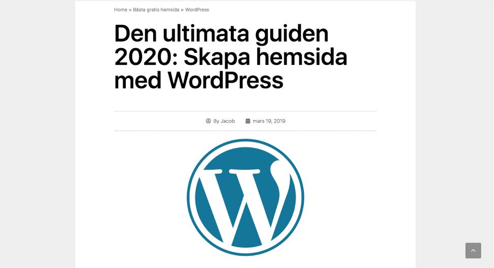 WordPress guide för Sverige