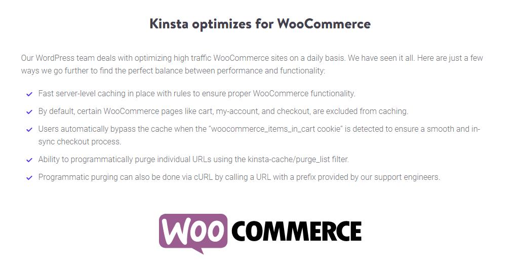 Kinsta WooCommerce-optimering