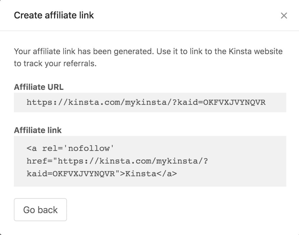 Skapa en affiliate-länk