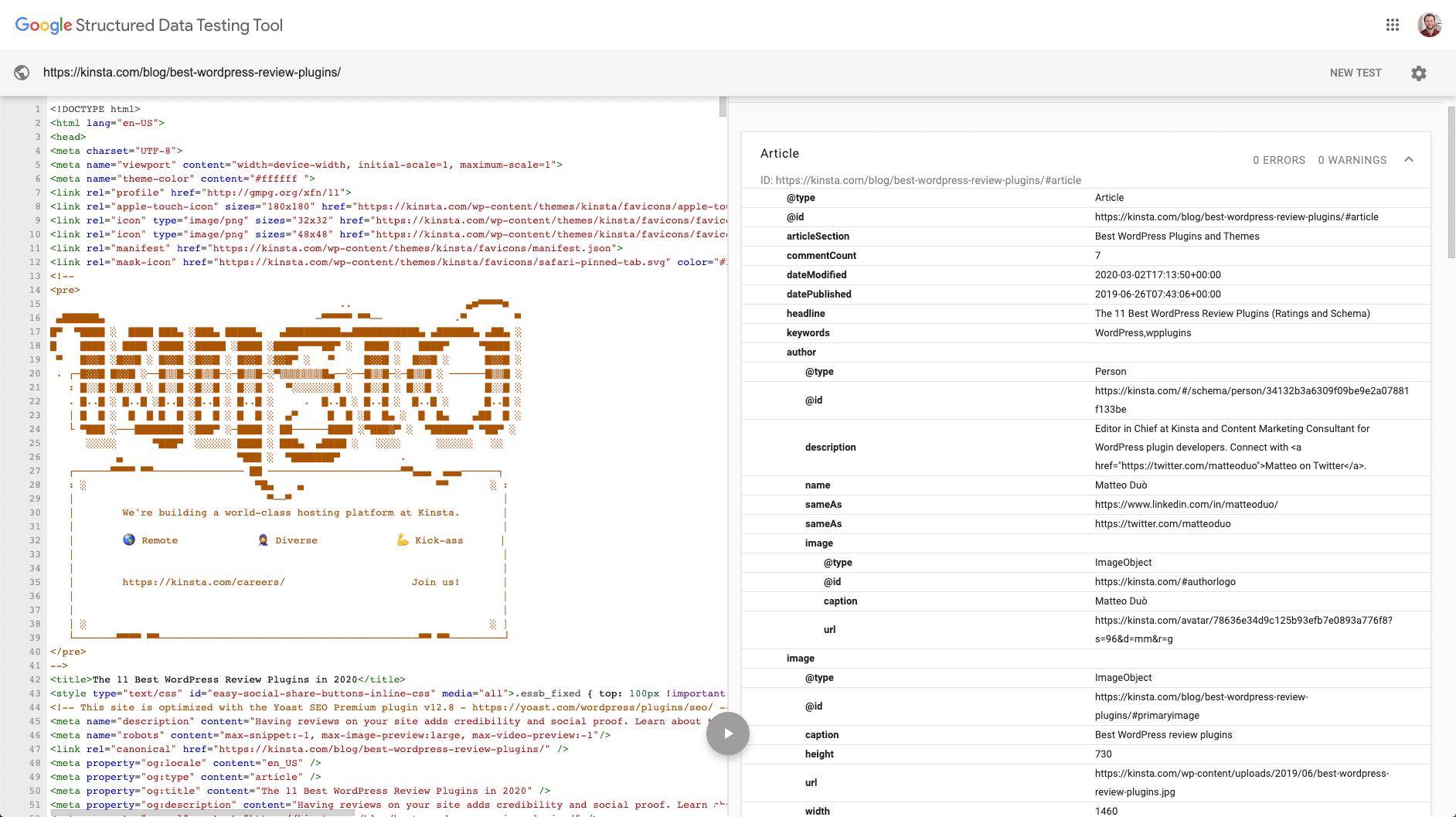 Googles structured data schema