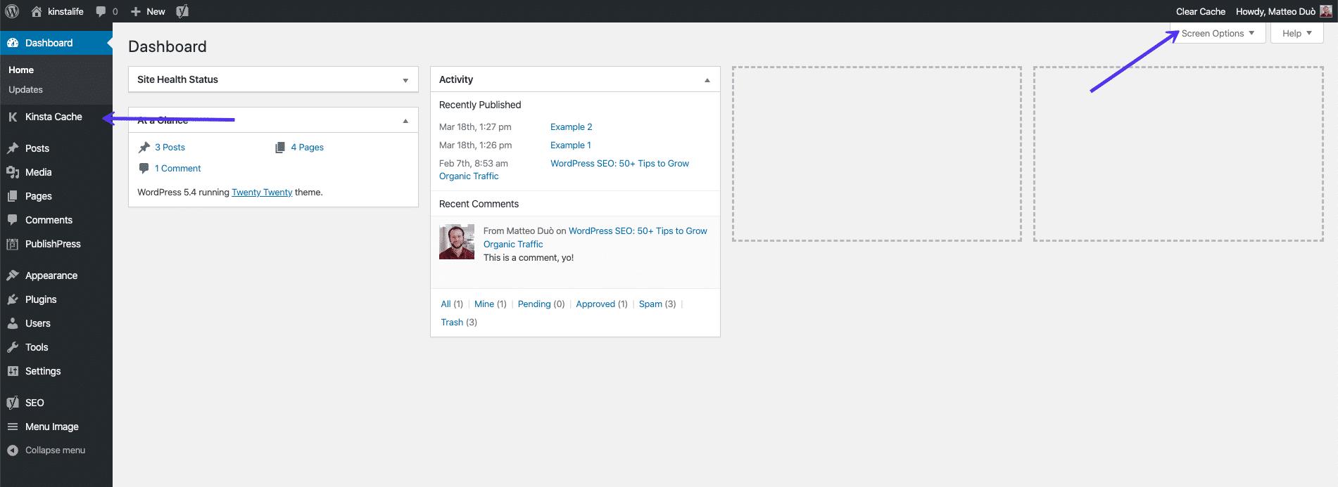 Så här rensar du webbplatsens cacheminne