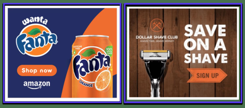 CTA-exempel på banner-annonser