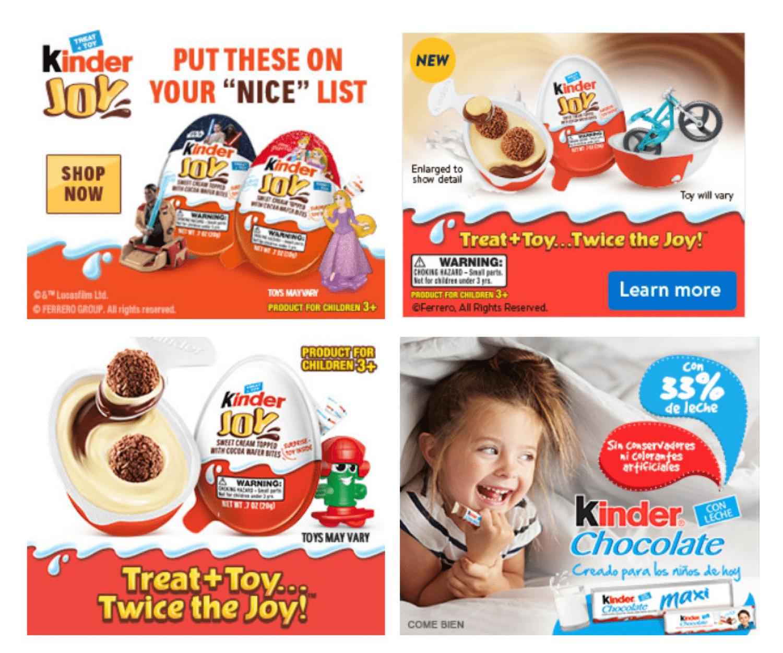 Iögonfallande (och hungerframkallande) banner-annonsexempel