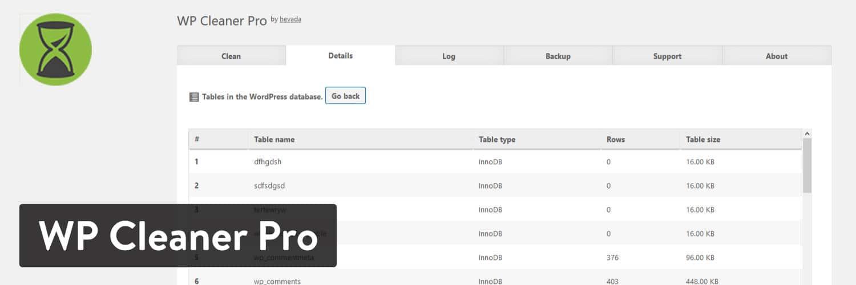 WP Cleaner Pro WordPress-plugin