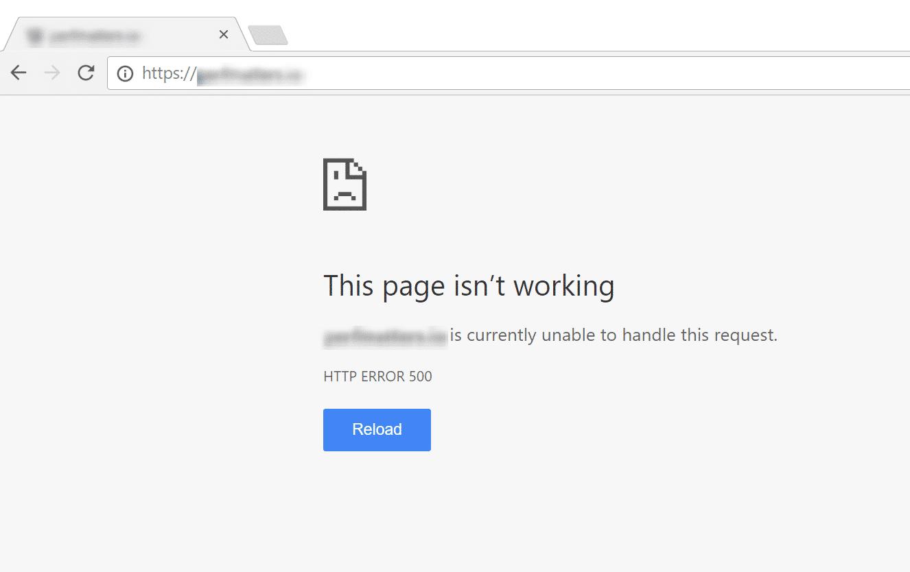 WordPress White Screen of Death i Google Chrome
