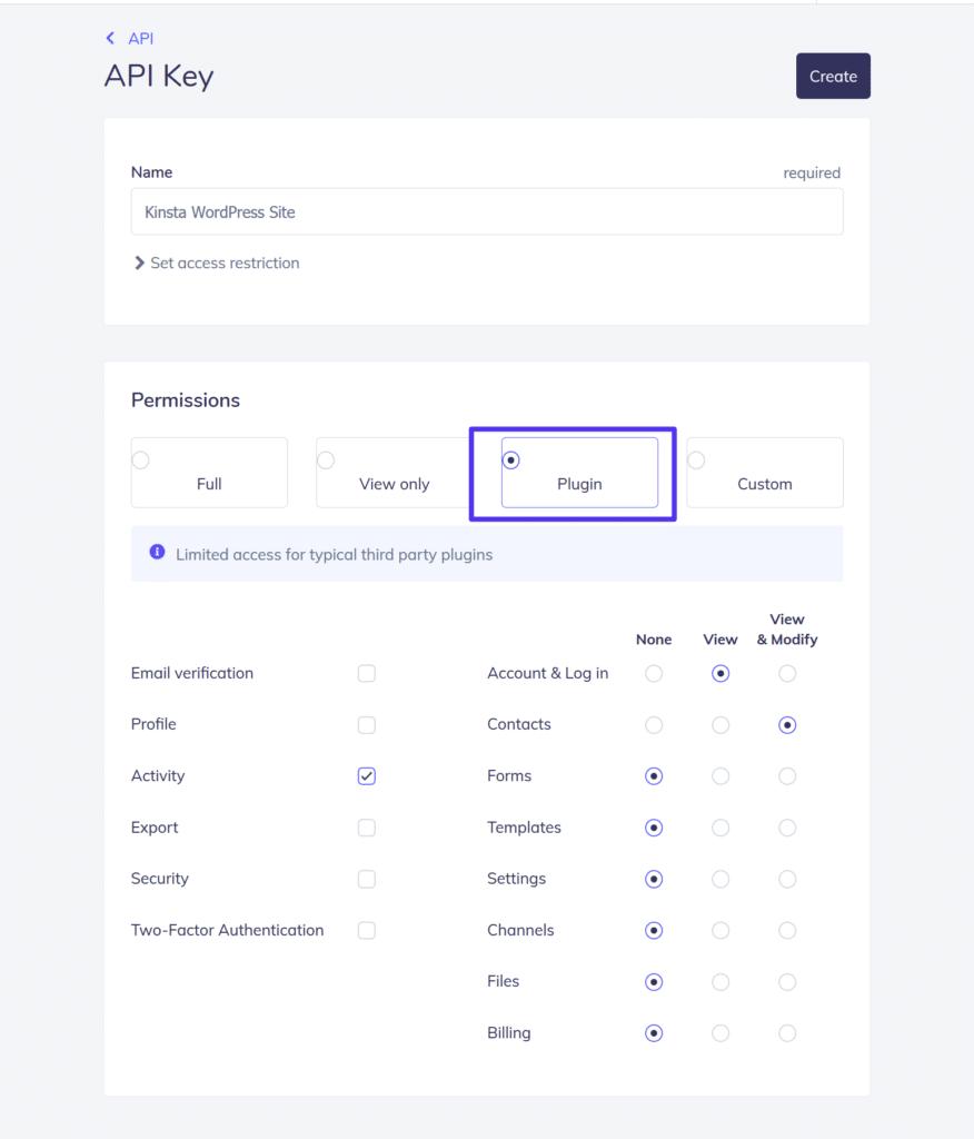 Konfigurera inställningarna för API-nyckel