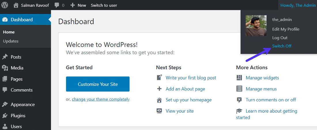 Slå på och stäng av ditt konto med ett enda klick