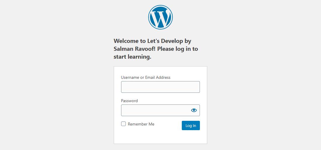 Visa ett eget inloggningsmeddelande ovanför inloggningsformuläret