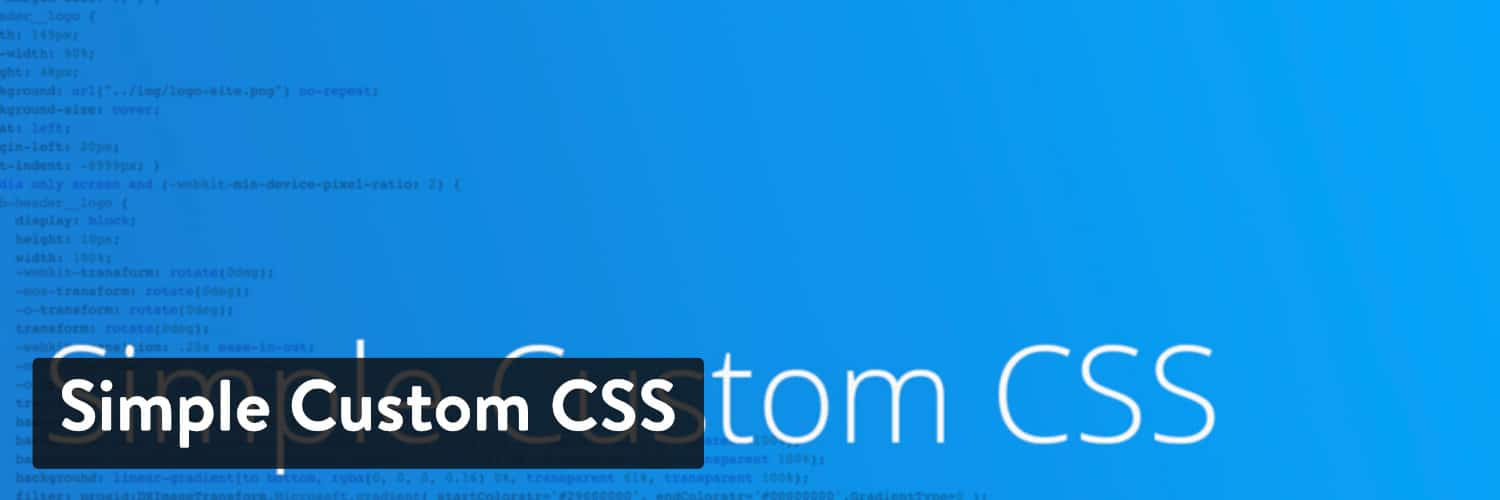 Simple Custom CSS WordPress-plugin