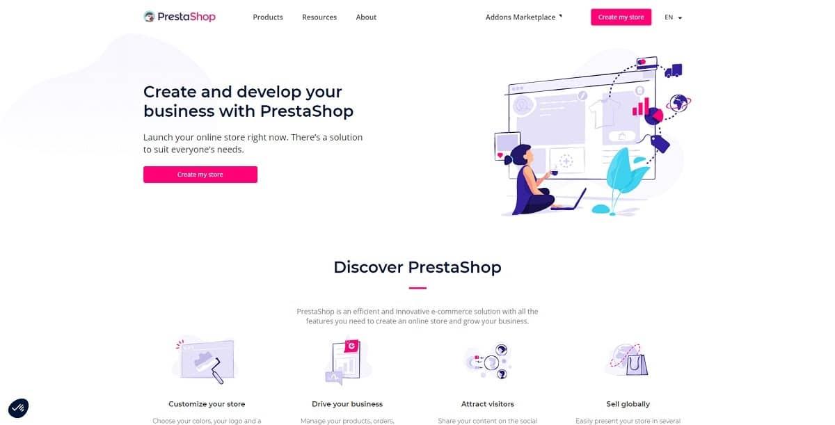 prestashop - shopify alternatives