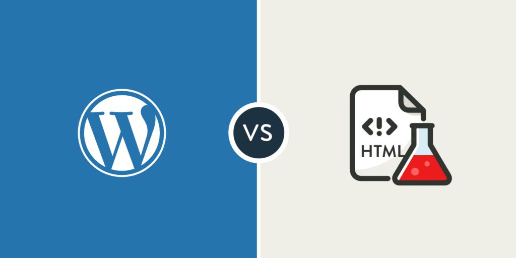 WordPress vs html