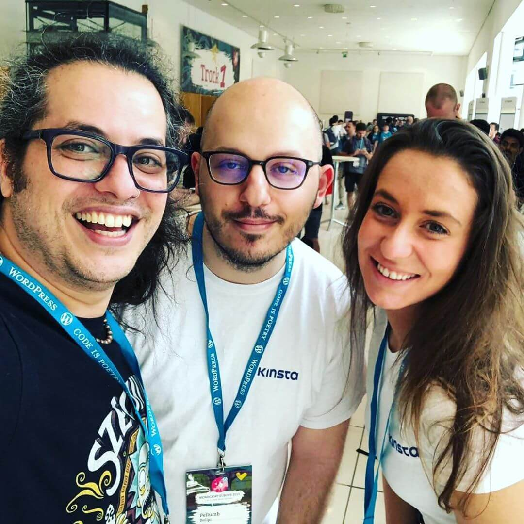 The Kinsta team at WordCamp Europe