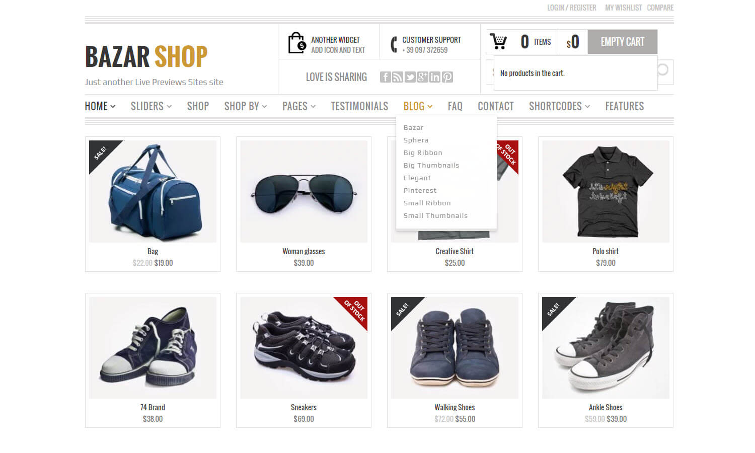 Bazar Shop screenshot
