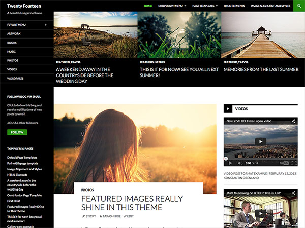 WordPress TwentyFourteen theme